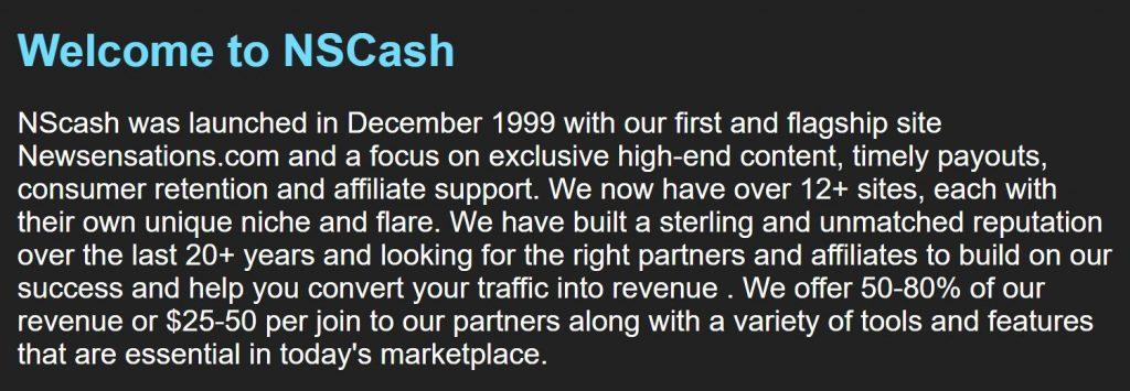 NSCash Sponsor 4K Affiliate Program Banner